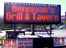 Tampa LED Sign Rental